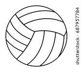 volleyball ball sports activity ...   Shutterstock .eps vector #687957784