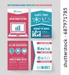 modern flat design bifold... | Shutterstock .eps vector #687971785