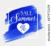 summer sale sign with a heart... | Shutterstock .eps vector #687972109