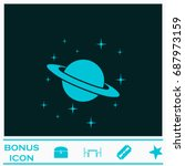 planet saturn icon flat. simple ... | Shutterstock . vector #687973159