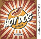 hot dog comic style promotional ... | Shutterstock .eps vector #687973315
