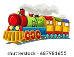 cartoon funny looking steam... | Shutterstock . vector #687981655
