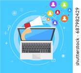 influencer marketing banner.... | Shutterstock . vector #687982429