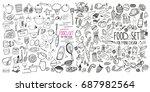 hand drawn food elements. set...   Shutterstock .eps vector #687982564