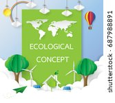environment conservation with... | Shutterstock .eps vector #687988891