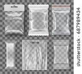 set of transparent empty... | Shutterstock .eps vector #687989434