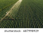 Aerial View Of Irrigation...