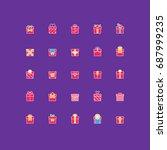 gift box icons | Shutterstock .eps vector #687999235