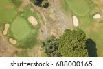 Aerial View Of An Empty Golf...
