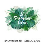 it's summer time palm and... | Shutterstock . vector #688001701