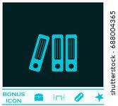 folders icon flat. simple blue...