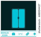 wardrobe or cupboard icon flat. ...   Shutterstock . vector #688004437
