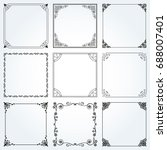 decorative frames and borders... | Shutterstock .eps vector #688007401