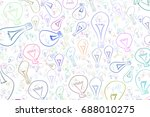 light bulbs illustrations... | Shutterstock .eps vector #688010275