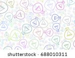 hand drawn light bulbs... | Shutterstock .eps vector #688010311