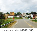 an intersection is seen with a... | Shutterstock . vector #688011685