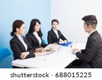 business people with interview... | Shutterstock . vector #688015225