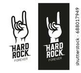 hard rock music related t shirt ... | Shutterstock .eps vector #688017949