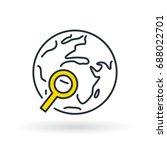simple dark blue world with... | Shutterstock .eps vector #688022701