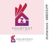 ok home initial letter z logo... | Shutterstock .eps vector #688023199