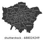 greater london administrative... | Shutterstock .eps vector #688024249