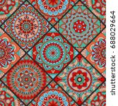 seamless pattern. vintage...   Shutterstock .eps vector #688029664
