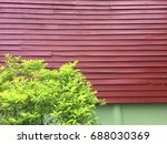 a traditional way of wooden... | Shutterstock . vector #688030369