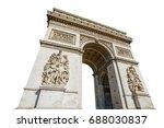 arch of triumph. arc de...   Shutterstock . vector #688030837