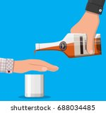 alcohol abuse concept. hand... | Shutterstock .eps vector #688034485