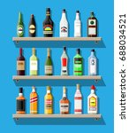 alcohol drinks collection.... | Shutterstock .eps vector #688034521