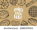 set of vector bakery elements... | Shutterstock .eps vector #688035061