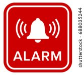 alarm sign   icon | Shutterstock .eps vector #688035244