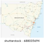 road map of the australian... | Shutterstock .eps vector #688035694