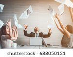 group of business people...   Shutterstock . vector #688050121