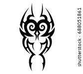 tribal tattoo art designs.... | Shutterstock .eps vector #688051861
