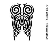 tribal tattoo art designs.... | Shutterstock .eps vector #688051879