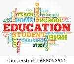 education word cloud collage ... | Shutterstock .eps vector #688053955