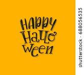halloween lettering logo.... | Shutterstock .eps vector #688056535