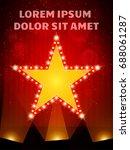 poster template star banner... | Shutterstock .eps vector #688061287