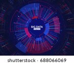 big data connection structure.... | Shutterstock .eps vector #688066069