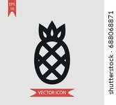 pineapple vector icon ... | Shutterstock .eps vector #688068871