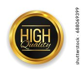 high quality golden medal icon... | Shutterstock .eps vector #688069399