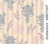 Lavender Flowers Seamless...
