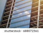 glass facade. construction.... | Shutterstock . vector #688072561