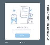 business illustration concept... | Shutterstock .eps vector #688075861
