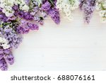floral frame made of beautiful... | Shutterstock . vector #688076161