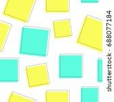 flat line square pattern vector | Shutterstock .eps vector #688077184