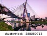 sao paulo landmark skyline  ... | Shutterstock . vector #688080715