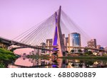 sao paulo landmark skyline  ... | Shutterstock . vector #688080889