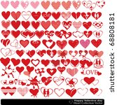 collection of hearts of the... | Shutterstock . vector #68808181